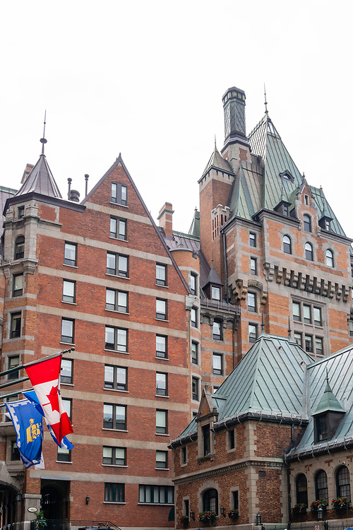 In the courtyard of the Chateau Frontenac, Quebec, Canada.