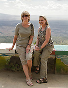 Kathy and Vicky Overlooking Rift Valley.Kenya - September 2012