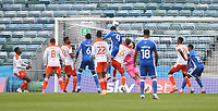 Gillingham's Dominic Samuel scores his side's first goal  <br /> <br /> Photographer Rob Newell/CameraSport<br /> <br /> The EFL Sky Bet League One - Gillingham v Blackpool - Saturday 26th September 2020 - Priestfield Stadium - Gillingham<br /> <br /> World Copyright © 2020 CameraSport. All rights reserved. 43 Linden Ave. Countesthorpe. Leicester. England. LE8 5PG - Tel: +44 (0) 116 277 4147 - admin@camerasport.com - www.camerasport.com