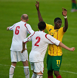 25.05.2010, Dolomitenstadion, Lienz, AUT, FIFA Worldcup Vorbereitung, Kamerun vs Georgien im Bild Aleksandre Amisulashvili (GEORGIA)., Vcha Lobjanidze (GEORGIA)., 17, IDRISSOU Mohamadou, FW, SC Freiburg, Kamerun,  EXPA Pictures © 2010, PhotoCredit: EXPA/ J. Feichter / SPORTIDA PHOTO AGENCY