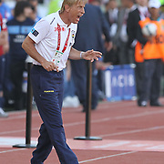 Fenerbahce's coach Christoph DAUM during their Turkey Cup final match Trabzonspor between Fenerbahce at the GAP Arena Stadium at Urfa Turkey on wednesday, 05 May 2010. Photo by TURKPIX