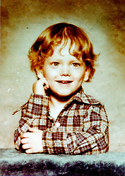 19 Jan,2006. Collect photograph. Marshall Bruce Mathers III, aka Eminem in a 1970's photograph when Eminem was just 4 years old.  <br /> Photo Credit: Kresin via  www.varleypix.com