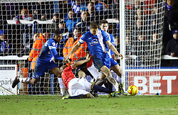 Peterborough United's Ben Nugent clears the ball - Photo mandatory by-line: Joe Dent/JMP - Tel: Mobile: 07966 386802 14/02/2014 - SPORT - FOOTBALL - Peterborough - London Road Stadium - Peterborough United v Walsall - Sky Bet League One