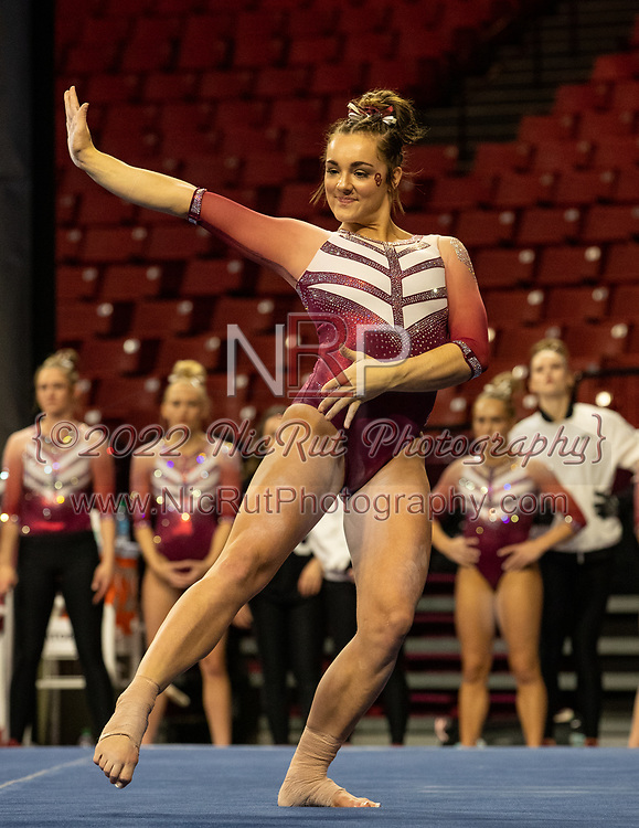 Maggie Nichols performing on the floor Friday evening, January 11, 2019 at the Lloyd Noble Center.