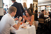 TY WOOD; ROXIE NAFOUSI, The launch of the Belvedere Bloody Mary Brunch to London's Caprice. Le Caprice. Arlington st. London. 7 April 2011.  -DO NOT ARCHIVE-© Copyright Photograph by Dafydd Jones. 248 Clapham Rd. London SW9 0PZ. Tel 0207 820 0771. www.dafjones.com.