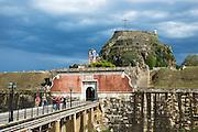 Old Fort, The Paleo Frourio, in Kerkyra, Corfu Town, Ionian Islands, Greece
