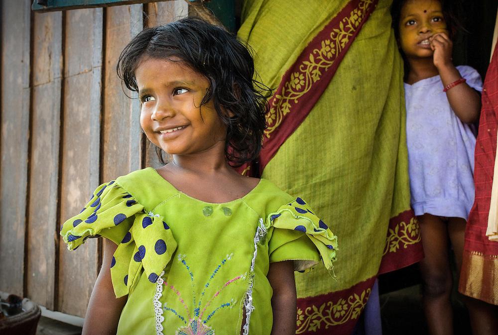 Girl in Green Dress, Tamil Nadu, India