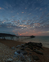 Winter evenings at Totland Bay, Isle of Wight