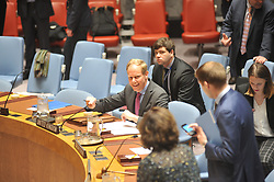 April 25, 2017 - New York, New York, United States - The United Nations Security Council held a meeting on the UN Secretary-General's most recent report on the Sudan and South Sudan. A lack of accountability for crimes perpetrated during the ongoing conflict in South Sudan remains one of the country's ''biggest challenges,'' the Human Rights Director for the United Nations Mission (UNMISS) said today as it wrapped up to visit the north-western Wau Region. Violence earlier in April led to the death of 19 Sudan People's Liberation Army (SPLA) soldiers and at least 28 civilians, according to State officials. (Credit Image: © Luiz Roberto Lima/Pacific Press via ZUMA Wire)