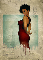 The strength, courage, and humanity of Black women is extraordinary. This fact is beautifully depicted in this fine art piece, which depicts a woman in a simple red dress. While the dress itself might be simple, you should keep in mind that nothing about this woman should be considered simple. This is a woman of passion and mystery. These are qualities we can find from simply looking at this fine art piece more closely. This is a woman who knows secrets, and this is a woman who is willing to take those secrets as far as they will move her. This piece is ideal for homes or places of business. <br /> <br /> BUY THIS PRINT AT<br /> <br /> FINE ART AMERICA<br /> ENGLISH<br /> https://janke.pixels.com/featured/laverne-with-red-dress-jan-keteleer.html<br /> <br /> WADM / OH MY PRINTS<br /> DUTCH / FRENCH / GERMAN<br /> https://www.werkaandemuur.nl/nl/shopwerk/Vrouw-van-de-wereld---Laverne-met-rode-jurk/446502/134