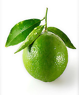 Fresh lime with leaves