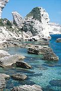 ved Bonifacio, Korsika..dias Sardinia, Italy.