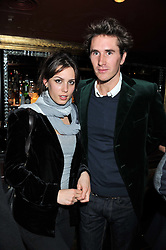 LILY ROBINSON and OTIS FERRY at a party to celebrate 41 years of the Farm Club in Verbier held at Club Nouveau, The Arts Club, Dover Street, London on 16th November 2011.