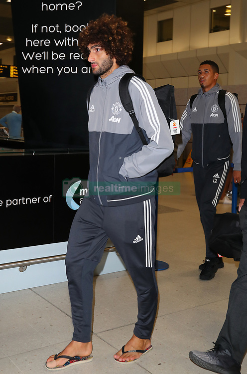 Marouane Fellaini with his injured big toe on his right foot.