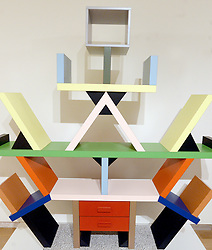 A bookcase designed by Ettore Sottsass is displayed during the David Bowie Collector Media Preview at Sotheby's on September 26, 2016 in New York City, NY, USA. Photo by Dennis Van Tine/ABACAPRESS.COM