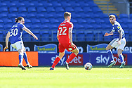 Nottingham Forest's Ryan Yates (22) under pressure from Cardiff City's Ciaron Brown (30) during the EFL Sky Bet Championship match between Cardiff City and Nottingham Forest at the Cardiff City Stadium, Cardiff, Wales on 2 April 2021.