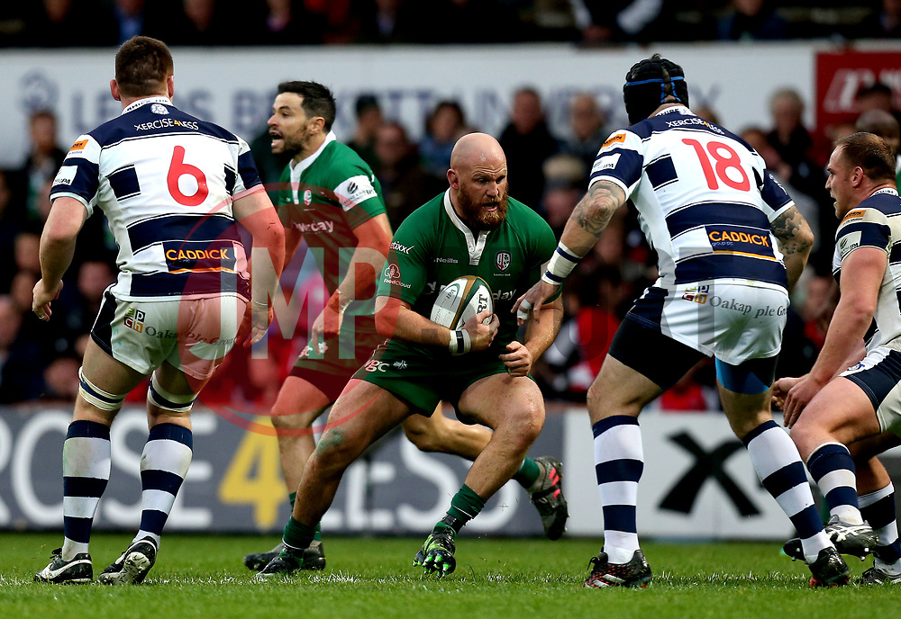 Ben Franks of London Irish runs with the ball - Mandatory by-line: Robbie Stephenson/JMP - 17/05/2017 - RUGBY - Headingley Carnegie Stadium - Leeds, England - Yorkshire Carnegie v London Irish - Greene King IPA Championship Final 1st Leg