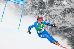 Florian Eisath of Italy competes during 1st run of Men's GiantSlalom race of FIS Alpine Ski World Cup 57th Vitranc Cup 2018, on March 3, 2018 in Kranjska Gora, Slovenia. Photo by Ziga Zupan / Sportida