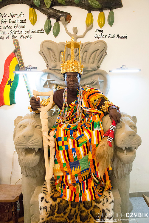 King Cephas Bansah and Queen Gabriele Bansah visit their soon to be opened new palace  in Hohoe, Ghana on September 6th, 2016.<br /> <br /> The King and Queen saving their own money and building this palace since 20 years.<br /> <br /> ***Togbe Ngoryifia Cephas Kosi Bansah of Gbi Traditional Area Hohoe Ghana and Traditional, Spiritual and Honorable King of the Ewes and his wife, Queen Mother Gabriele Akosua Bansah Ahado Hohoe Ghana***