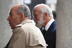 Prince Michael of Kent arriving at the Grosvenor Chapel in London's Mayfair for a memorial service to commemorate the life of Raine Spencer, the stepmother of Diana, Princess of Wales, who died last month aged 87 after a short illness.