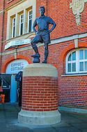 Johnny Haynes statue at Craven Cottage, London<br /> Picture by Richard Brooks/Focus Images Ltd 07947656233<br /> 02/01/2017