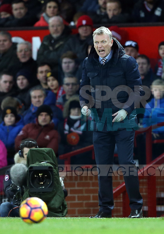 Sunderland's David Moyes looks on during the Premier League match at Old Trafford Stadium, London. Picture date December 26th, 2016 Pic David Klein/Sportimage