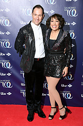 Lukasz Rozycki (left) and Didi Conn attending the Dancing on Ice launch held at the Natural History Museum, London. Photo credit should read: Doug Peters/EMPICS