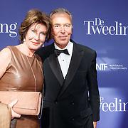 NLD/Amsterdam/20151011 - Inloop premiere De Tweeling, Eelco Brinkman en partner Janneke Salentijn