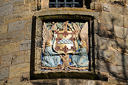 Exterior view of Falkland Palace in village of Falkland, Fife, Scotland, UK