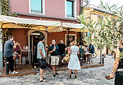 ITALY, RIMINI, aperitivo at the Borgo in the old part of the town