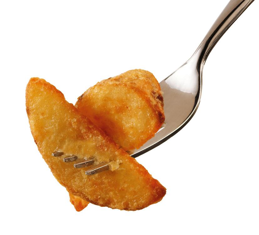 Potato wedges with a dip food photos