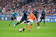 Kylian Mbappe (FRA), Daley Blind (NDL) during the UEFA Nations League, League A, Group 1 football match between France and Netherlands on September 9, 2018 at Stade de France stadium in Saint-Denis near Paris, France - Photo Stephane Allaman / ProSportsImages / DPPI