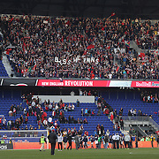 New England Revolution players salute their fans after their 2-1 victory during the New York Red Bulls Vs New England Revolution, MLS Eastern Conference Final, first leg at Red Bull Arena, Harrison, New Jersey. USA. 23rd November 2014. Photo Tim Clayton