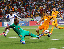 Keeper Brilliant Khuzwayo of Kaizer Chiefs during the 2016 Premier Soccer League match between Chippa United and Kaizer Chiefs held at the Nelson Mandela Bay Stadium in Port Elizabeth, South Africa on the 3rd December 2016.<br /> <br /> Photo by:   Richard Huggard / Real Time Images
