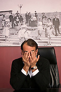 Moscow, Russia, 03/03/2006.&#xA;Italian entrepeneur David Gisi in his office in the headquarters of the Russian Mercury Group.<br />