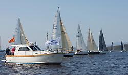 Largs Regatta Festival 2019<br /> <br /> CYCA Class 5 Start with, Mallie to windward