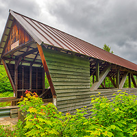 New England Covered Bridges photography of the historic Bump Covered Bridge in Campton, New Hampshire.<br /> <br /> Beautiful New England Covered Bridge photography photos of the New Hampshire Bump Covered Bridge are available as museum quality photography prints, canvas prints, acrylic prints, wood prints or metal prints. Fine art prints may be framed and matted to the individual liking and interior design decorating needs.<br /> <br /> Good light and happy photo making!<br /> <br /> My best,<br /> <br /> Juergen