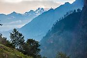 Landscapes from Kheerganga in Parvati valley in Kullu, Himachal Pradesh, India