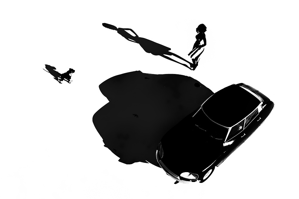 This orthochromatic piece combines a young girl with a fast car. You can also a dog nearby. There are dozens and dozens of unique details to be absorbed here. It is easy to look at this woman and this car and imagine the next few moments. We can see her getting in the car. We can see the dog jumping into the backseat. The car starts. It roars out of the scene. At this point, we can no longer follow. All we can do is wonder if we will ever have the opportunity to see this young French girl again. .<br /> <br /> BUY THIS PRINT AT<br /> <br /> FINE ART AMERICA<br /> ENGLISH<br /> https://janke.pixels.com/featured/french-girl-with-car-jan-keteleer.html<br /> <br /> WADM / OH MY PRINTS<br /> DUTCH / FRENCH / GERMAN<br /> https://www.werkaandemuur.nl/nl/shopwerk/Klassiek---Retro-Frans-meisje-met-auto-een-Citroen-DS/444034/134