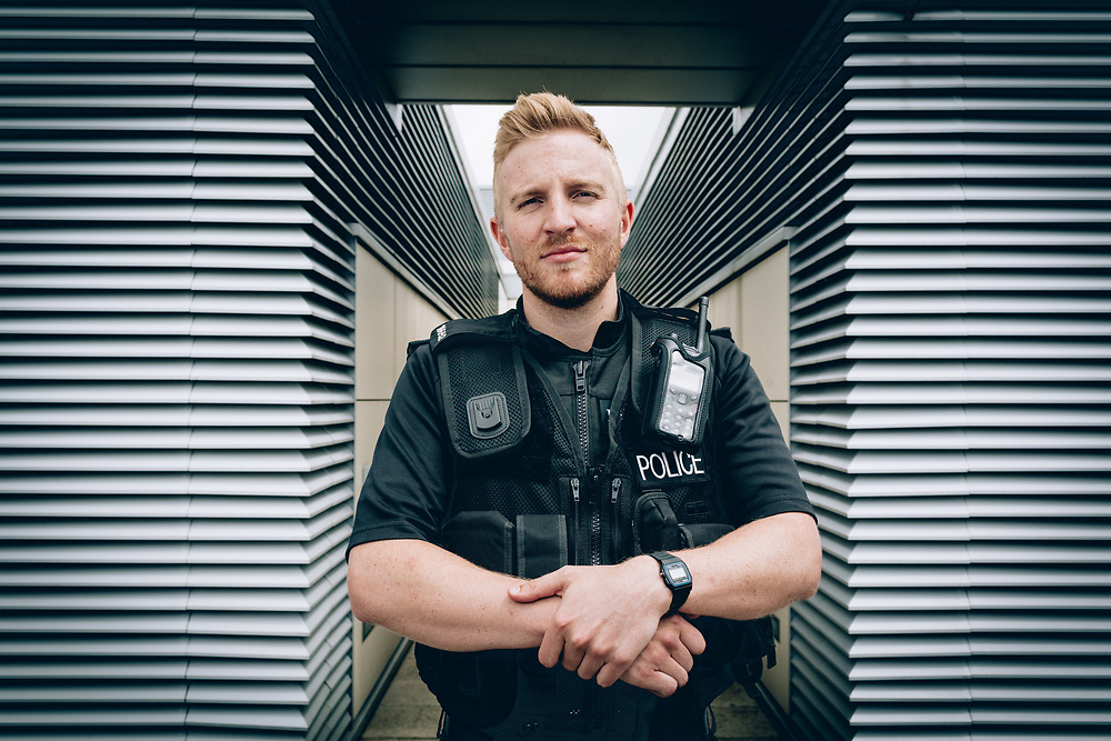20/06/18 Manchester - Tom Cresswell , trainee poilce officer - Police Now