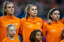 05-04-2019 NED: Netherlands - Mexico, Arnhem<br /> Friendly match in GelreDome Arnhem. Netherlands win 2-0 / Jill Roord #12 of The Netherlands, Lieke Martens #11 of The Netherlands, Danielle van de Donk #10 of The Netherlands