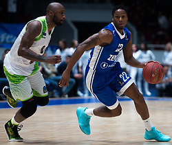 November 8, 2017 - Saint Petersburg, Russia - Tony Crocker of Tofas Bursa (L) and Demonte Harper of Zenit St. Petersburg vie for the ball during the EuroCup Round 5 regular season basketball match between Zenit St. Petersburg and Tofas Bursa at the Yubileyny Sports Palace in St. Petersburg, Russia, November 08, 2017. (Credit Image: © Igor Russak/NurPhoto via ZUMA Press)