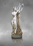2nd century AD Roman sculpture of Pothos, a copy of a 4th century BC Greek original attributed to Skopas of Paros, inv no 6253,  The Farnese collection, Naples Museum of Archaeology, Italy ..<br /> <br /> If you prefer to buy from our ALAMY STOCK LIBRARY page at https://www.alamy.com/portfolio/paul-williams-funkystock/greco-roman-sculptures.html . Type -    Naples    - into LOWER SEARCH WITHIN GALLERY box - Refine search by adding a subject, place, background colour, etc.<br /> <br /> Visit our ROMAN WORLD PHOTO COLLECTIONS for more photos to download or buy as wall art prints https://funkystock.photoshelter.com/gallery-collection/The-Romans-Art-Artefacts-Antiquities-Historic-Sites-Pictures-Images/C0000r2uLJJo9_s0