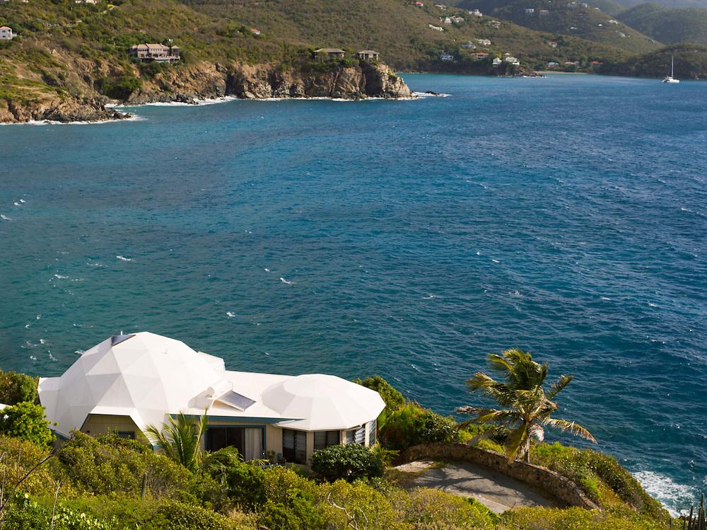 View of the St. John's Dome House, near Cruz Bay, St. Johns, US Virgin Islands
