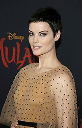 Jaimie Alexander at the World premiere of Disney's 'Mulan' held at the Dolby Theatre in Hollywood, USA on March 9, 2020.