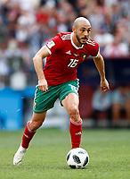 Noureddine Amrabat (Morocco)<br /> Moscow 20-06-2018 Football FIFA World Cup Russia  2018 <br /> Portugal - Morocco / Portogallo - Marocco <br /> Foto Matteo Ciambelli/Insidefoto