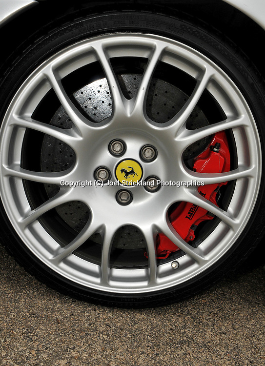 2004 Ferrari 360 Challenge Stradale (Argento Nurburgring) .Wheel with brake and caliper .Corporate Drive Day with Octane Events & The Supercar Club.Mornington Pennisula, Victoria .6th-7th of August 2009 .(C) Joel Strickland Photographics