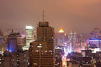 view of Shanghai China at night