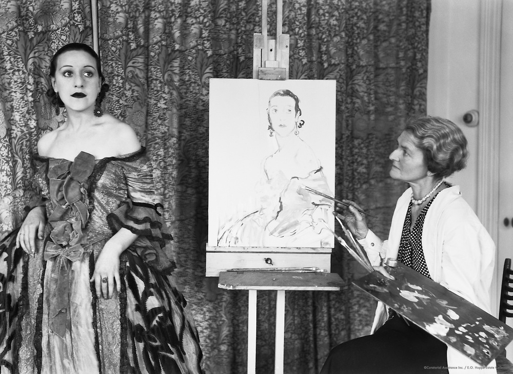 Ethel Gabain, artist, painting Virginia Jay,  England, 1917
