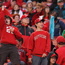 """Oct 10, 2009; Piscataway, NJ, USA; """"The Bon Jovi Kid"""" sings along to Bon Jovi's """"Livin' on a Prayer"""" during second half NCAA college football action in Rutgers' 42-0 victory over Texas Southern at Rutgers Stadium."""